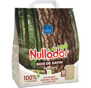 Nullodor - Litière en bois de sapin 100% BioCompatible pour Chat - 10L