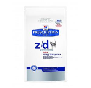 Hill's Prescription Diet Feline Z/D Gestion des Allergies & Santé de la peau Nourriture pour Chat Croquettes 2kg