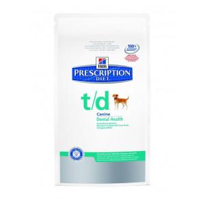 Hill's Prescription Diet Canine T/D Santé Bucco-dentaire Nourriture pour Chien Croquettes 3kg