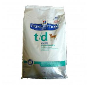 Hill's Prescription Diet Canine T/D Santé Bucco-dentaire Nourriture pour Chien Croquettes 10kg