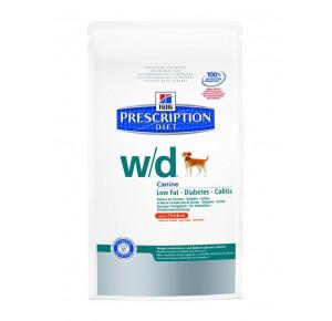 Hill's Prescription Diet Canine W/D Gestion du Poids & Régime Amaigrissant Nourriture pour Chien Croquettes 12kg Poulet