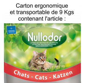 Nullodor Litière en Silice pour Chat Carton de 9kg